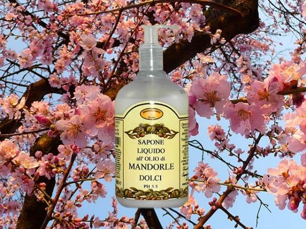 Sapone Liquido all'olio di Mandorle dolci